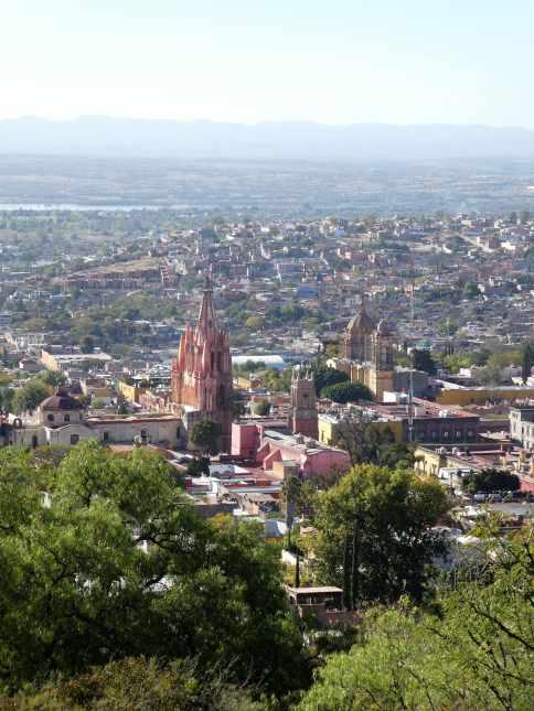 Vue sur la Santa Escuela de Cristo (San Miguel de Allende)