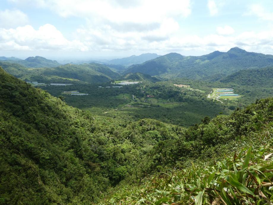 vue du cerro Gaital .