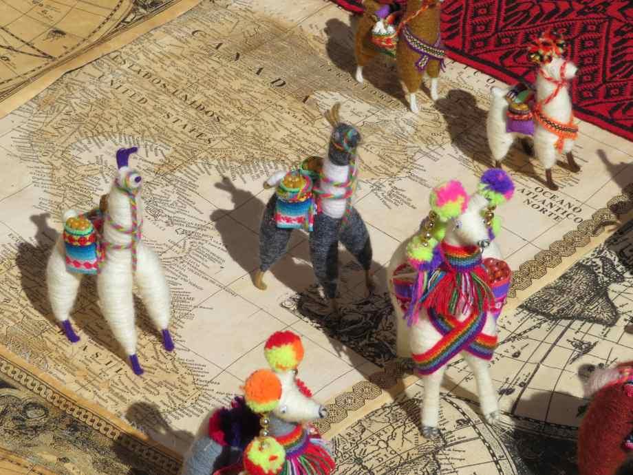 lamas à Tarabuco