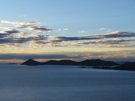 soleil couchant sur la isla del Sol