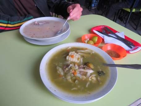 sopas del almuerzo