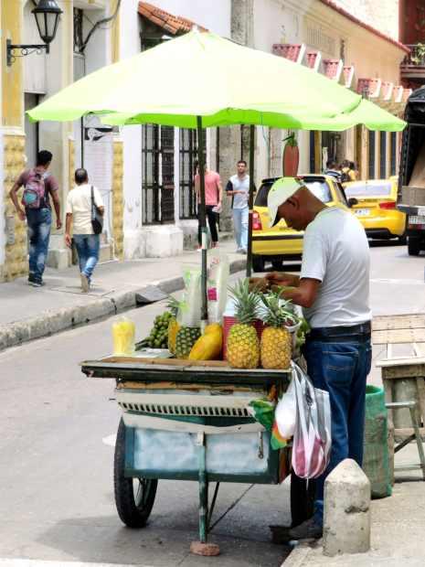 vendeur de fruit-