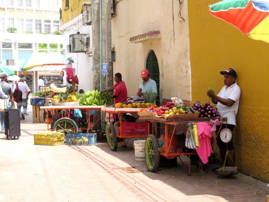 vendeurs de fruits