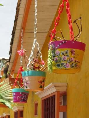 fleurs à Guatapé