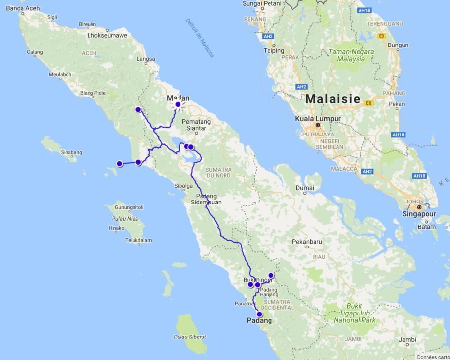 trajet sumatra